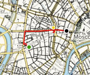 Arbat District Walking Tour Map
