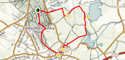 Lickey Hills / Bant Green Loop Map
