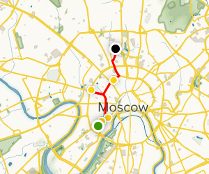 Moskow Literary Walking Tour  Map