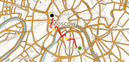 Moscow Arts and Culture Walking Tour Map