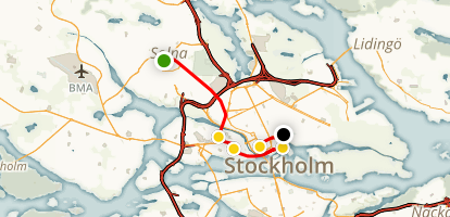 Stockholm Metro Art Walk Map