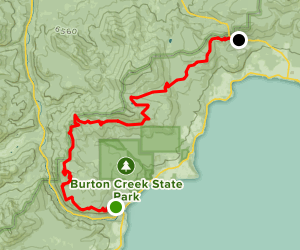 Tahoe Rim Trail (TRT): Tahoe City to Brockway Summit Map