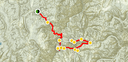 South Fork Salmon River Trail to Pilot Peak Lookout Map