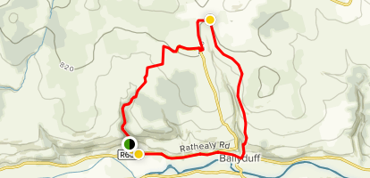 Mocollop to The Piers Loop Map