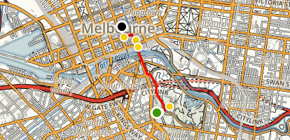 Melbourne Highlights Walking Tour Map