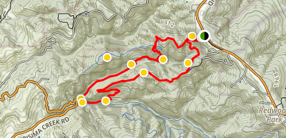 Whittemore Gulch and Harkins Ridge Loop Trail Map