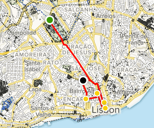 Lisbon Photographic Tour Map