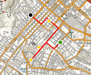 Cape Town Culture and Arts Walking Tour Map