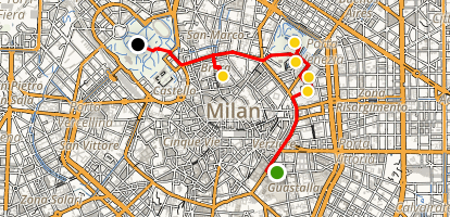 Milan Parks and Gardens Walking Tour Map