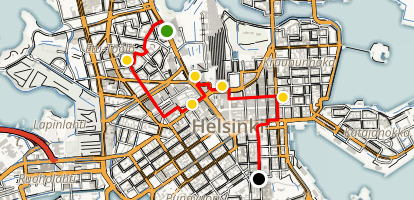An Architectural Tour of  Helsinki Map