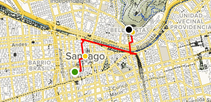 Highlights of Santiago Map