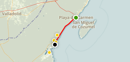 Playa del Carmen Day Trip to Tulum Map