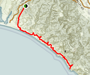 Point Reyes Hostel to the Coastal Trail and Arch Rock Map