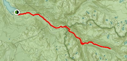 Florence Lake to Evolution Valley Map