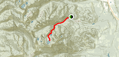 Sky Lakes & Hanging Valley Trail Map