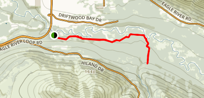 Lower Eagle River Trail to South Fork Falls Map