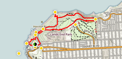 Lands End Trail Map