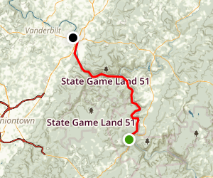 Youghiegheny River Trail: Ohiopyle to Connelsville Map