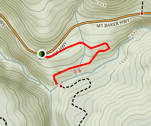 Nooksack Falls Trail Map