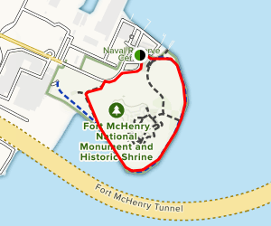 Fort McHenry Trail Map