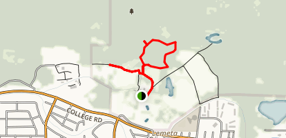 Boreal Forest and Seasonal Wetland Trail Map