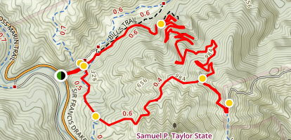 Bill's Trail to Mount Barnabe Peak Loop [CLOSED] Map