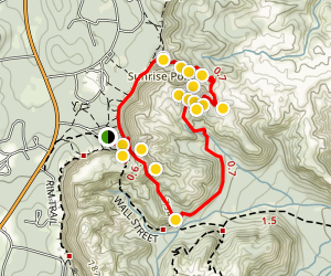 Navajo Loop and Queen's Garden Trail Map