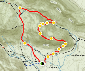 Kraft Mountain Loop Trail Map
