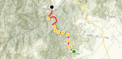 Janapar Trail - Patara to Kachaghakaberd Map