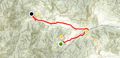 Janapar Trail - Kolatak to Gandzasar Map