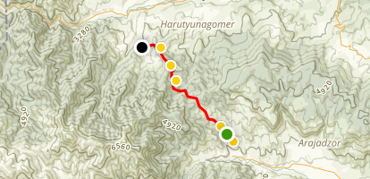 Janapar Trail - Gandzasar to Vaghuhas Map