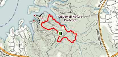 Shady Hollow and Pine Hollow Trail Map