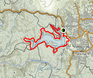 Enoggera Reservoir Loop Map