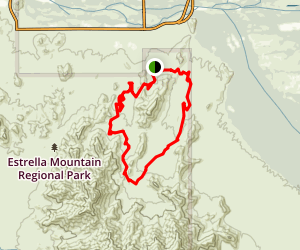 Estrella Mountains Competitive Track Map