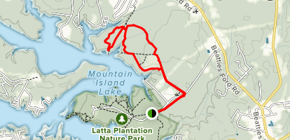 Hill Trail, Split Rock Trail, Cove Trail Loop Map