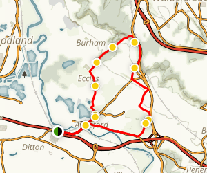 Pits and Pilgrims Loop Map