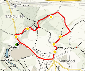Saltwood Saunter Trail in Brockhill Country Park Map