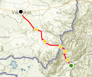 Janapar Trail - Tsar to Vardenis Map