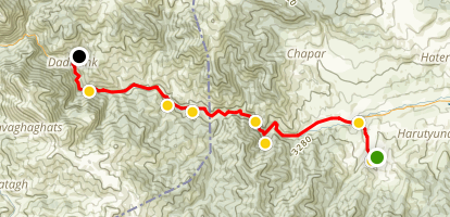Janapar Trail - Vaghuhas to Dadivank Map