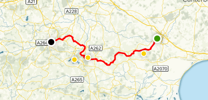 Wealden Cycle Trail Map