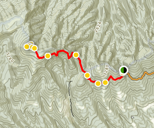 Brumley Mountain Trail: Hayter's Gap to the Channels  Map