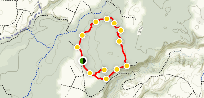 Rofalco, Rosacrepante and Mignattara Loop Trail Map