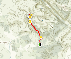 Lugnaquilla via Great Gully (Mc Alpines Back Passage) Map