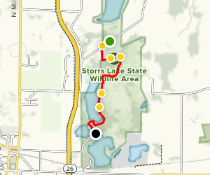 Ice Age Trail: Storrs Lake Map