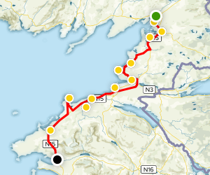 Donegal Bay Coastal Drive to Yeats Country Map