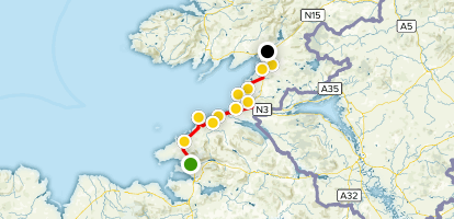 Donegal Coastal Drive Map