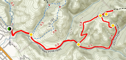 Tolman Peak Trail Map