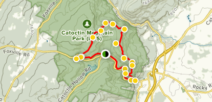 Catoctin Mountain Extended Loop Trail Map