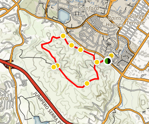 Stanford Dish Loop Trail Map