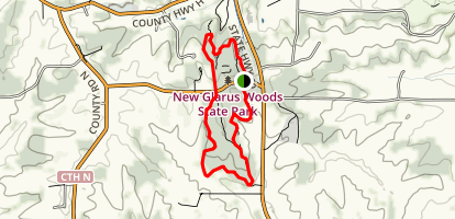 New Galrus Woods Loop Trail Map